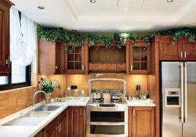 自然美式厨房设计效果