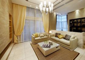 温馨简约客厅设计效果