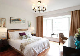 清新美式卧室装修实拍