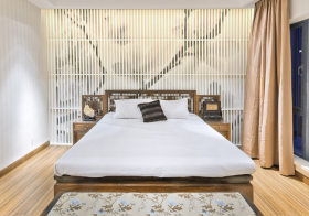 时尚新中式卧室装修实拍