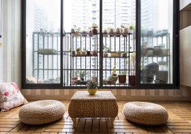 淡泊日式阳台装修案例
