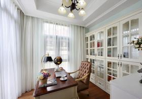 唯美美式书房设计