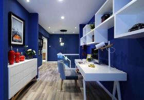 蓝色地中海书房设计