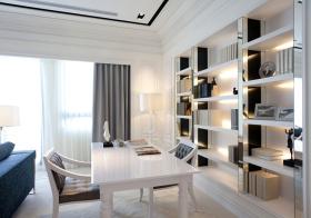 白色现代书房装修