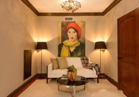 欧式暖色客厅效果图