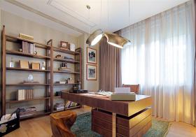 舒适美式书房装修设计