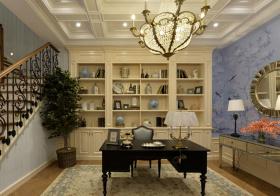 欧式开放式书房设计