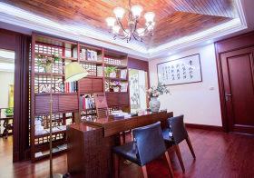 唯美中式书房装修