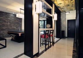 新中式风格吧台装修设计