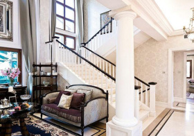 优雅欧式风格楼梯装修设计