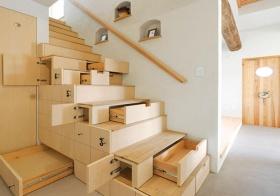 魔力日式收纳楼梯美图