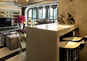 奢华欧式风格吧台装修设计