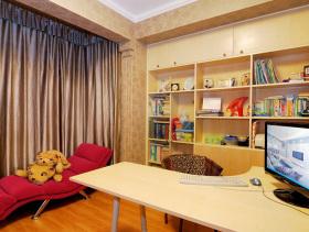 彩色简约书房设计