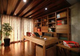 美式风格书房设计效果