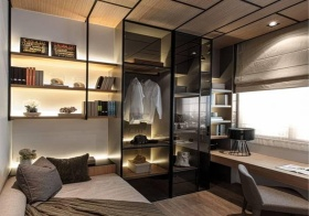 透明光影现代衣柜美图