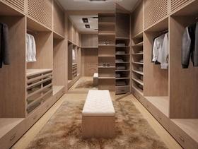 宜家现代简约风格走入式衣柜