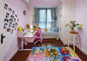 粉色现代儿童房欣赏