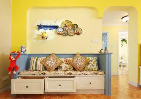 精致地中海沙发背景墙欣赏