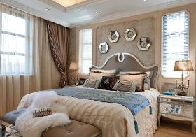 精致欧式卧室背景墙欣赏