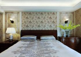 古典中式卧室背景墙设计