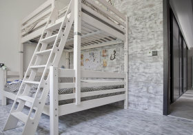 灰色时尚简约儿童房设计