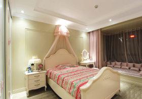 粉色美式儿童房设计