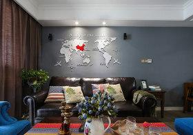时尚现代沙发背景墙欣赏