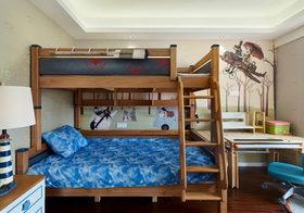 原木中式儿童房设计