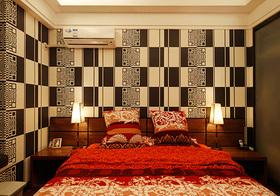 个性现代卧室背景墙设计