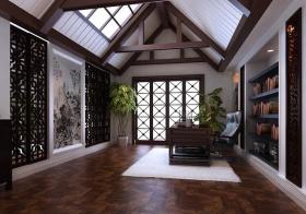 褐色中式阁楼美图
