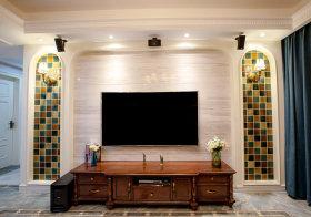 清新田园客厅背景墙设计