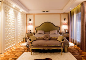 时尚现代卧室背景墙设计