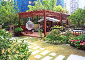 葱郁现代花园设计