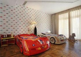 时尚汽车现代儿童房欣赏