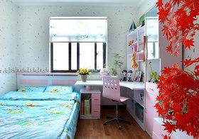 粉色简约儿童房设计