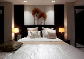精美中式卧室背景墙设计