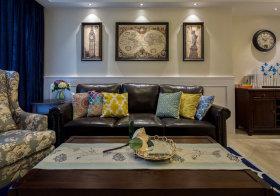 简约美式沙发背景墙设计