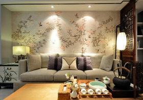 古典中式客厅背景墙欣赏