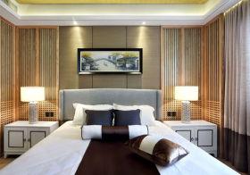 清新中式卧室背景墙欣赏