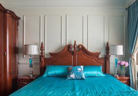 极简美式卧室背景墙欣赏