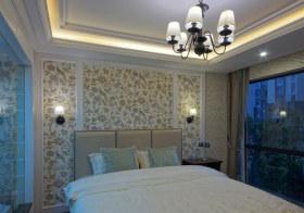 花纹现代卧室背景墙设计