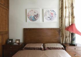 简约中式卧室背景墙设计
