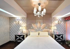 奢华欧式卧室背景墙欣赏