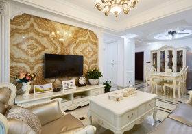 大理石欧式客厅背景墙欣赏