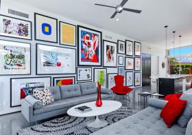 创意现代照片墙设计