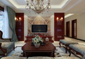 大理石花纹客厅背景墙欣赏