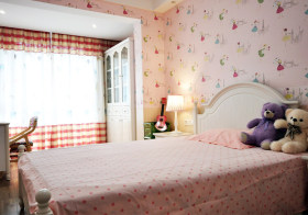 温馨甜美北欧儿童房设计