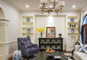 温馨美式客厅背景墙欣赏