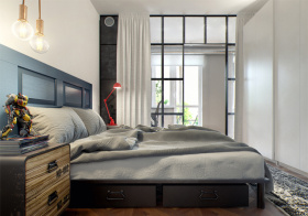 个性简约风格卧室装修设计