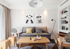 温馨简约风格客厅装修设计